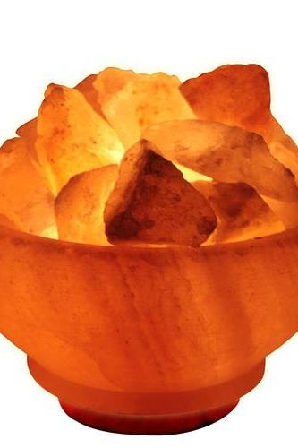 Himalayan Fire Bowl Salt Lamp Natural Crystal